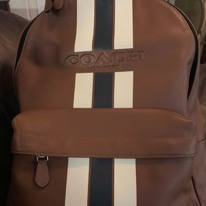 Coach Charles Backpack Navy stripe